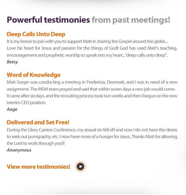 Miracles & Testimonies