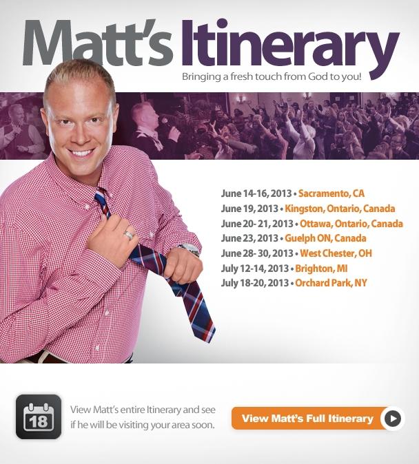 Matt's Itinerary